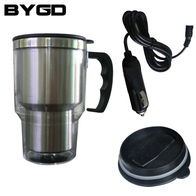 Stainless Steel Vehicle Heating Cup 12v Car Kettle Heating Electric