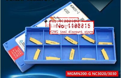 Free shipping 10 box MGMN200 G NC3030 Korloy Brand Grooving carbide inserts for MGEHR MGIVR Suitable