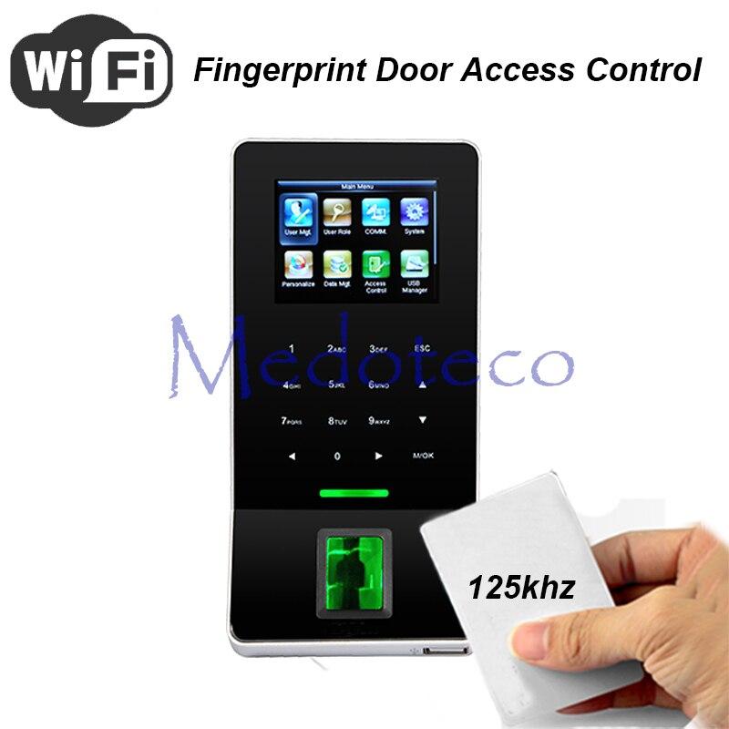 Wifi empreinte digitale et contrôle d'accès Rfid + tcp/ip système de contrôle d'accès de porte F22 contrôleur d'accès de porte de doigt présence de temps F28