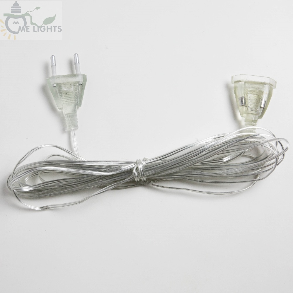 5M Extender Wire Extension Cable For Christmas Lights Led String Fairy Light Indoor Outdoor Garden Decoration EU Plug