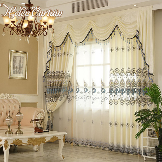 Online Shop Helen Curtain New Arrive Embroidered Set Curtains ...