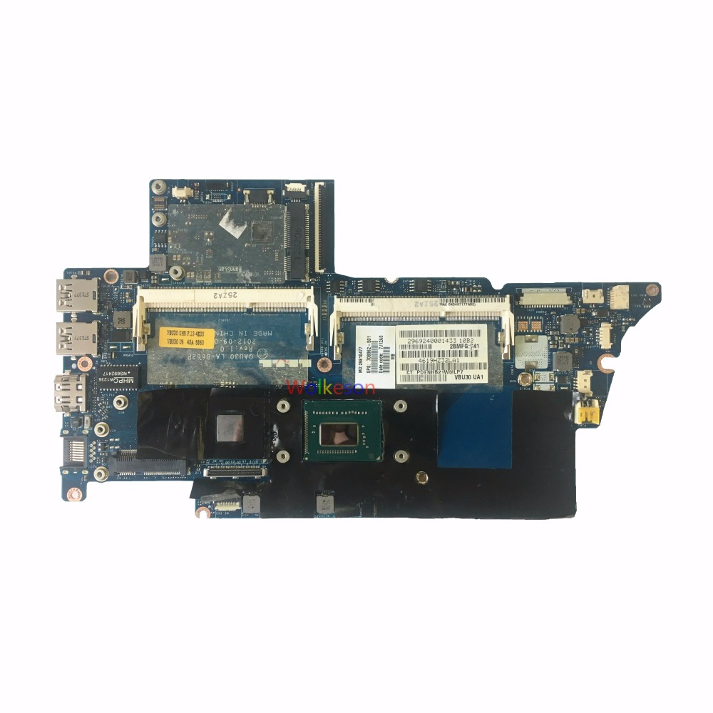 SHELI FOR HP ENVY 4 4T Laptop Motherboard W/ I5-3317U CPU 708962-501 QAU30 LA-8662P DDR3 Test Oke