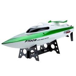 Nova Feilun FT009 2.4G de refrigeração de água barcos de corrida de Controle Remoto 4CH do RC alta velocidade Ao Ar Livre (verde)
