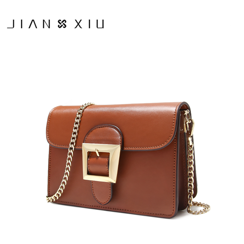 JIANXIU Women Messenger Bags Split Leather Bolsos Mujer Bolsa Sac Tassen Bolsas Feminina Shoulder Crossbody 2017 Chain Small Bag jianxiu handbags women messenger bags bolsa feminina sac a main bolsos mujer tassen nylon waterproof shoulder crossbody tote bag