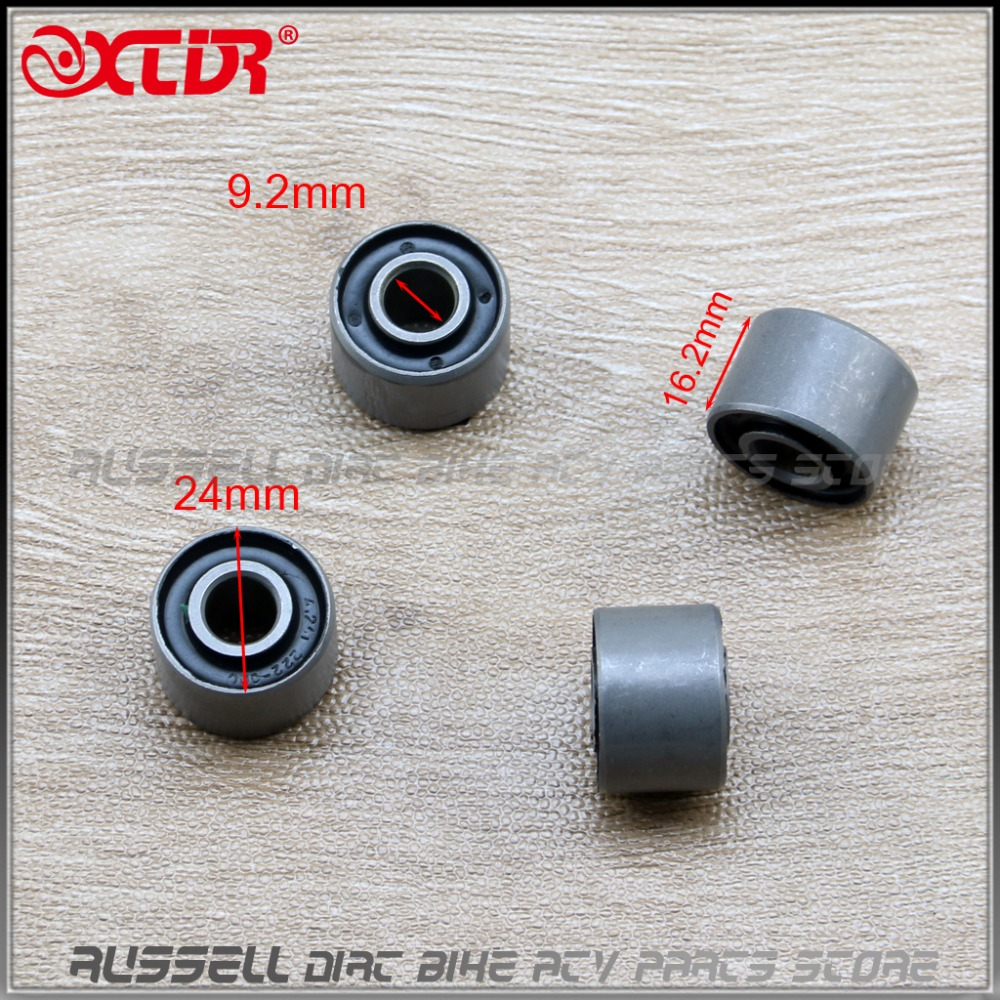 uxcell 4Pcs 10mm Inner Dia Black Metal Motorcycle Rear Wheel Damper Bush Bushing