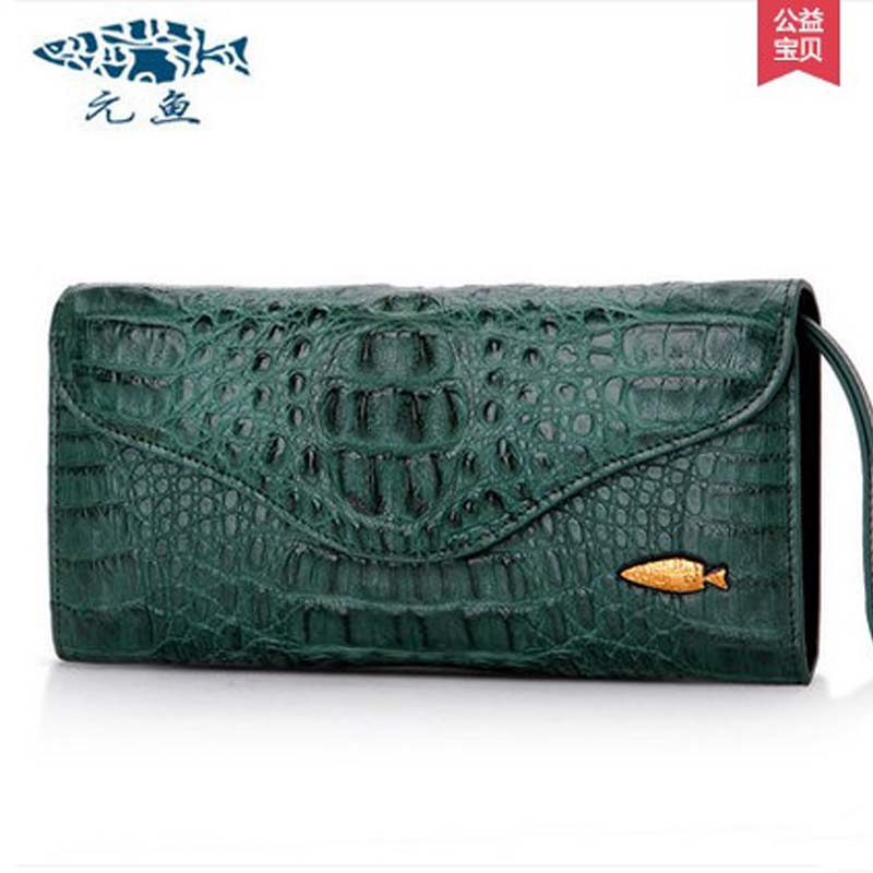 yuanyu 2018 new hot free shipping real Thai crocodile women clutches dinner long women wallet  large capacity women bag yuanyu 2018 new hot free shipping python leather women purse female long women clutches women wallet more screens women wallet