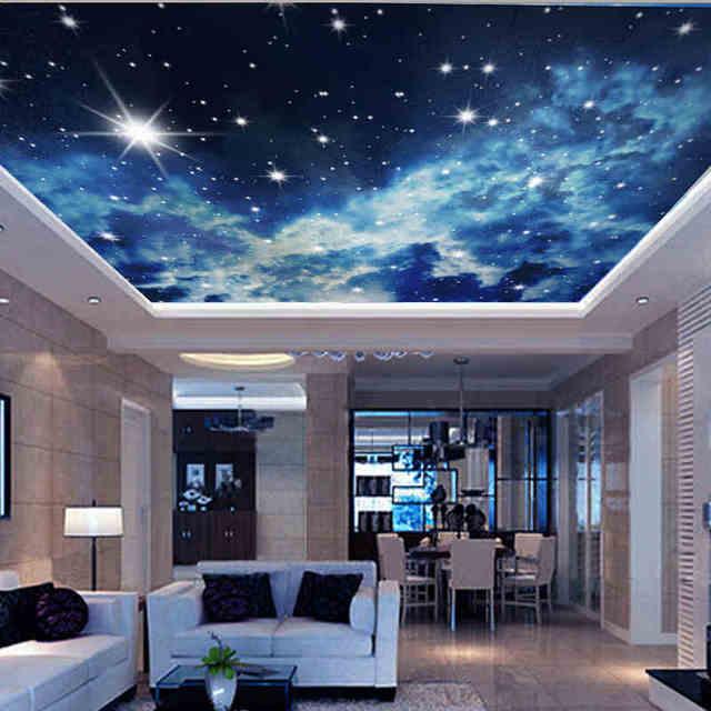 Marvelous Individuelle Fototapeten KTV 3D Sterne Hotels Decke Traum Wohnzimmer  Schlafzimmer Decke Helle Sterne Wandbild Tapete