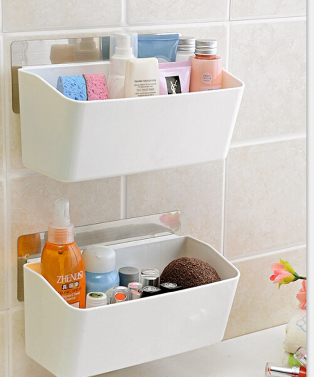 Kitchen Walling Rack Plastic Storage Holder Suction Cup Wall ...