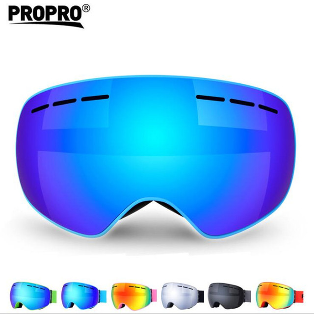 3c765892581 Ski Goggles Men Women Double Layers UV400 Anti-fog Skiing Glasses Snow  Snowboard Goggles Big Ski Mask Sunglasses Skiing Goggles