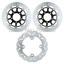 Full Set Round Front+Rear Brake Disc Rotor For KAWASAKI ER6F ER6N 650 2006-2012 ER-6 F 650 ABS 06-2010 ER-6 N 650 ABS 2006-2009
