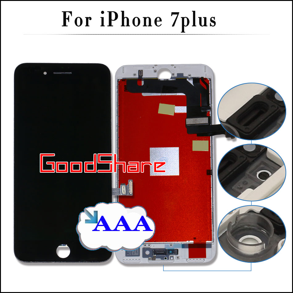 Подробнее о 5PCS 100% Check & Test AAA For iPhone 7 plus LCD Touch Screen Display Digitizer Assembly Replacement Black/White No Dead Pixel 10pcs free dhl tracking no 100% tested fir brand new 5 5 for iphone 6 plus lcd screen display digitizer assembly white black