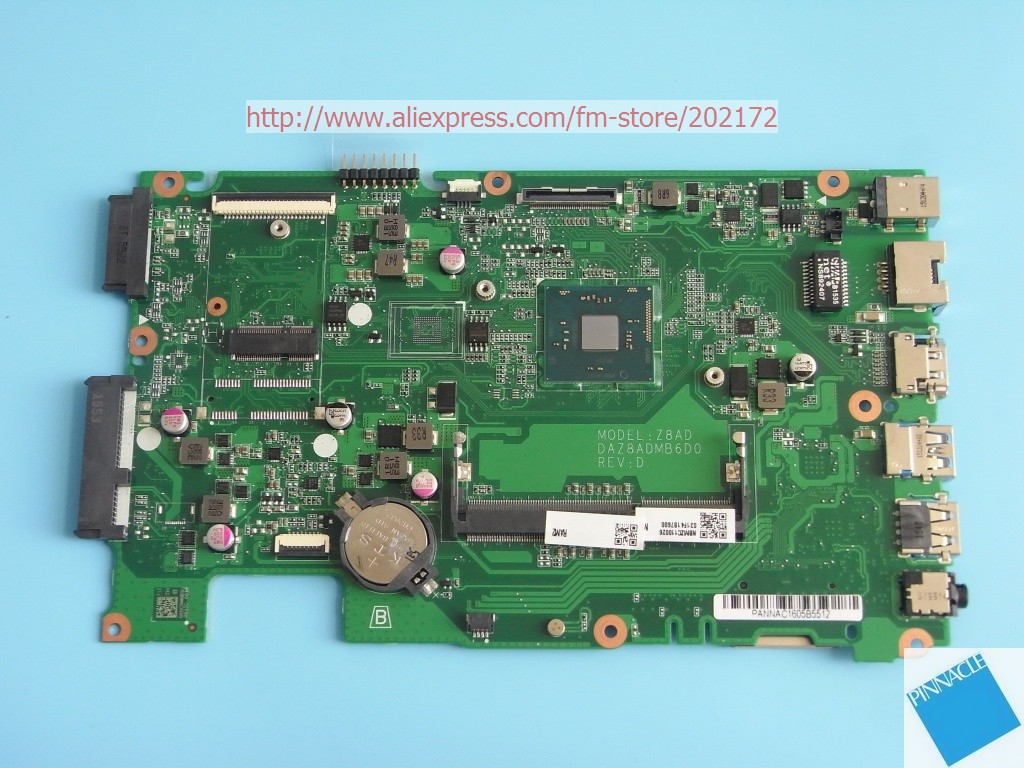 NBMZC11002 Motherboard for Acer Aspire ES1-431 /W N3150 CPU DAZ8ADMB6D0 Z8AD nbmny11002 nb mny11 002 for acer aspire e5 511 laptop motherboard z5wal la b211p n2940 cpu ddr3l