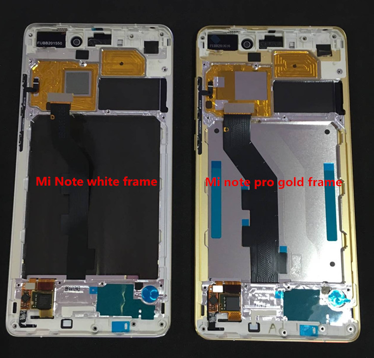 Original LCD screen display+touch Digitizer with frame+power flex cable for 5.7'' xiaomi Mi note or MI note pro free shipping
