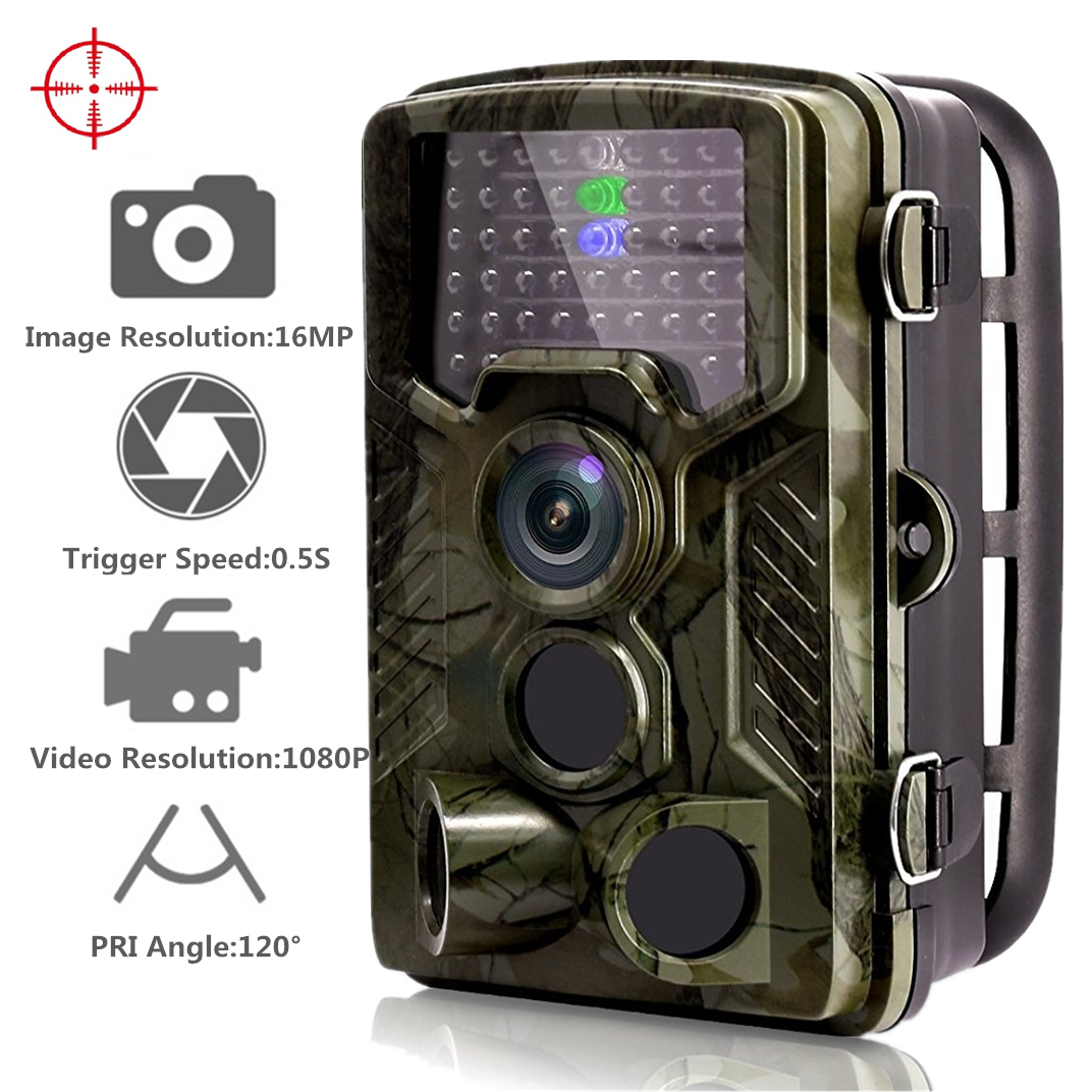 16MP 1080P 120 ° PIR capteur faune caméra de jeu cachée cerf chargeur caméra de chasse caméra 65ft/20 m infrarouge