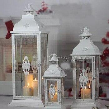 American simple romantic candlestick large wrought iron retro outdoor decorative wind lamp creative wedding road lead horse ligh