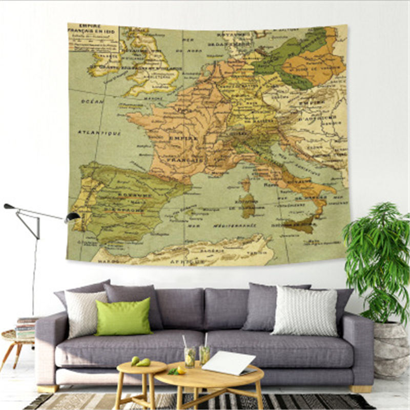 2018 The new of the world map tapestry wall hanging beach towels ...