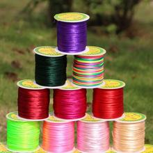 55 Meters/roll 1.5mm Nylon Cord Satin Rattail Silk Chinese Knot Macrame Beading Cords Braided Thread String for Jewelry Making недорого