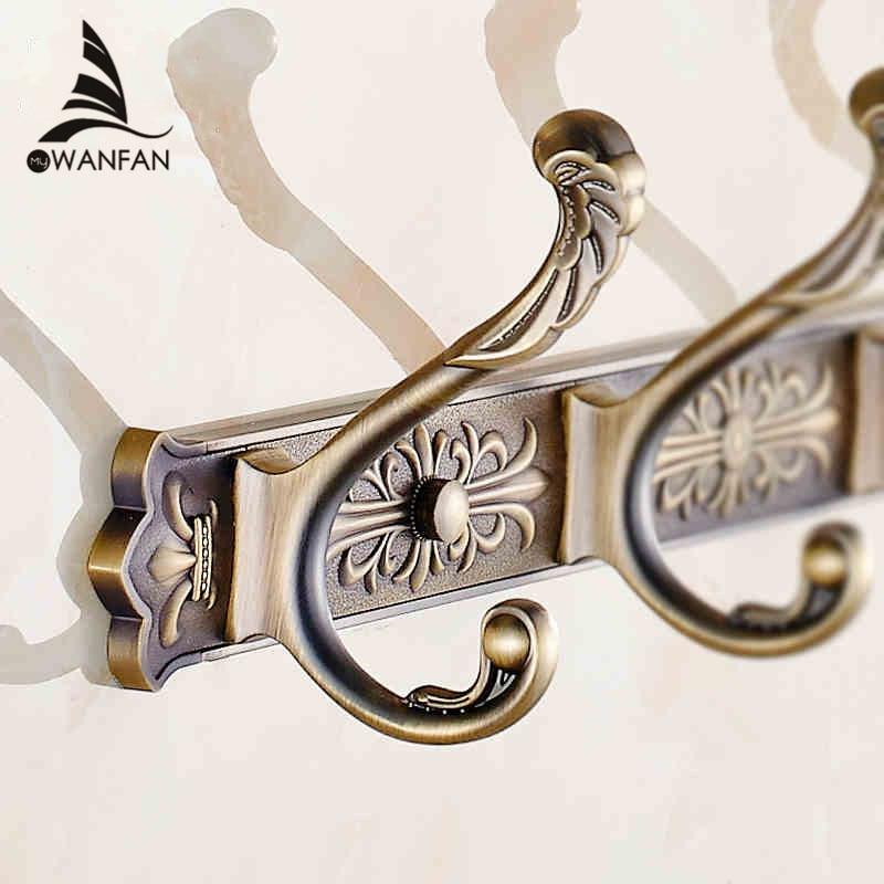 Robe Hooks Dragon Hook Antique Coat Hooks Bathroom Walls European Metal Pendant Hanging Clothes Row Bath Hardware Set HA-38W цена 2017