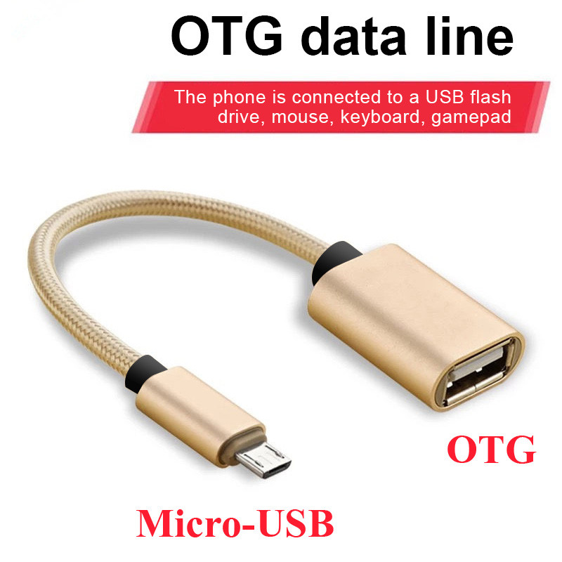 Micro USB OTG Cable Adapter For Android LeTV Huawei Oppo Vivo Tablet Samsung Smartphone Micro USB To USB 2.0 Converter OTG Cable