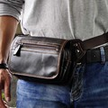 Oil Wax Leather  Men Outdoor  Waist Pack for Travel Hiking New High Quality Vintage Chest Bag with IPHONE/Wallet Genuine Leather