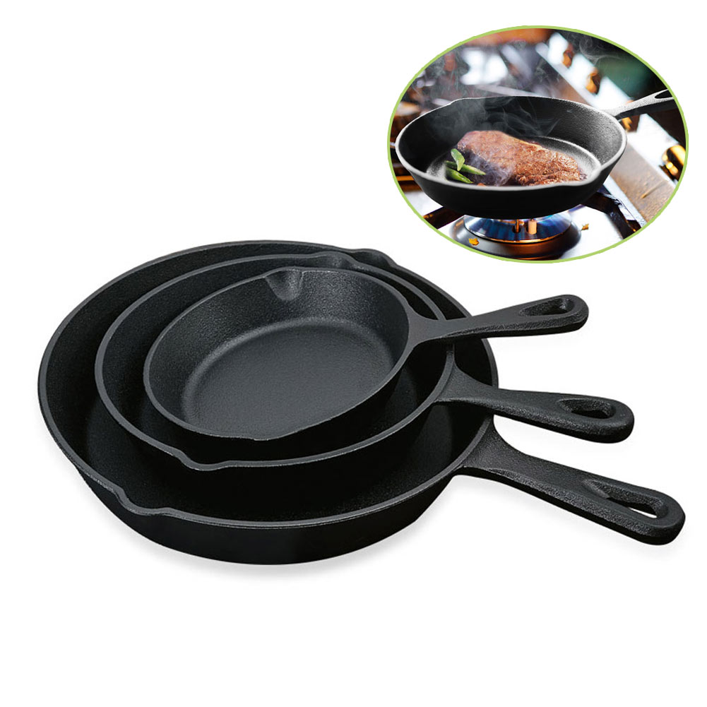 Detail feedback questions about ship from russia newly cast iron fry pan pot kettle smoke free pan kitchen cookware supplies induction cooker on