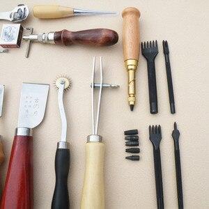 Image 5 - 18 ชิ้น/เซ็ตเครื่องมือหัตถกรรมหนังPunch Kitชุดเย็บจักรเย็บผ้าGrooverสำหรับDIYหนังทำงาน