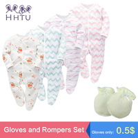 HHTU Baby Rompers Sets New Newborn Baby Boys Girls Romper Clothes Long Sleeve Infant Product Cotton