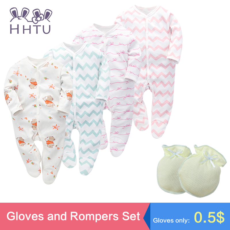 HHTU Baby Rompers Sets New Newborn Baby Boys Girls Romper Clothes Long Sleeve Infant Product Cotton Spring Lovely Hig Quality hhtu brand baby rompers boys girls clothing quilted long sleeve jumpsuits newborn clothes boneless sewing children cotton winter