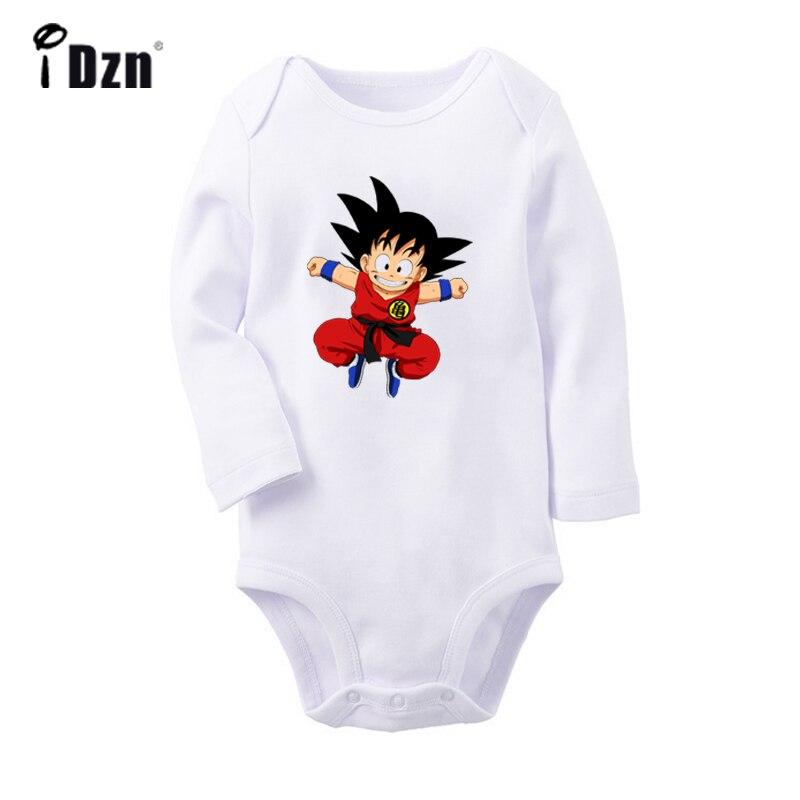 Gym Tank Gym DBZ Dragon Ball Z Cartoon Dragon Ball Fighting Goku Design Newborn Baby Bodysuit Toddler Onsies Jumpsuit Clothes