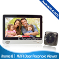 7 Inch LCD Touch Screen Door Camera Video Intercom Wireless Door Peephole Camera With IR Infrared Sensor & Motion Detect Sensor