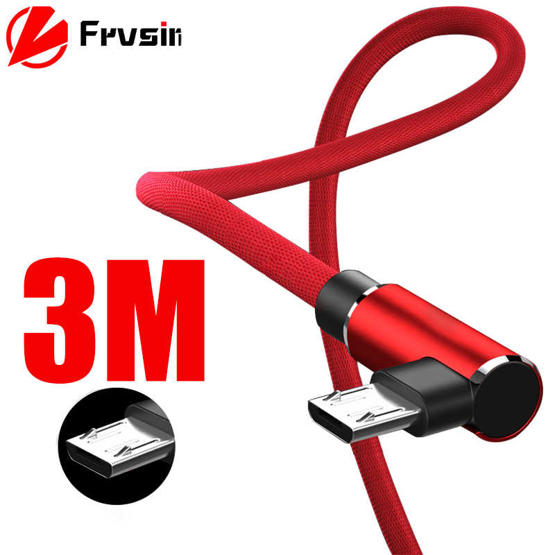 USB Micro Cable For Samsung Xiaomi Huawei Android USB Charger 90 Degree L Type Micro USB Cable Fast Charging Phone Data Cable
