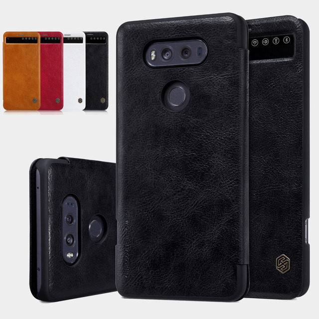 promo code bad8f 28c30 US $9.89 5% OFF For LG V20 V 20 F800, NILLKIN Leather Card Slot Smart Quick  View Window Folio Flip Case Cover Book Pouch Bag Shell With Sleep-in Flip  ...