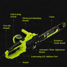 Wood Saw Small Multi-functional Household Electric Saw High-power 220v Gardening Tree Chain Saw 2200 household electric chain saw high power 16 inch woodworking saw automatic pump oil electric chain saw 220v 2200w 1pc