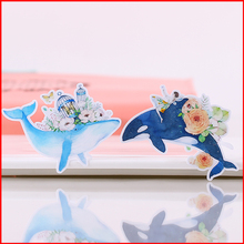 20 pcs Dolphin fish personalized scrapbook Stickers scrapbooking material sticker happy planner decoration craft