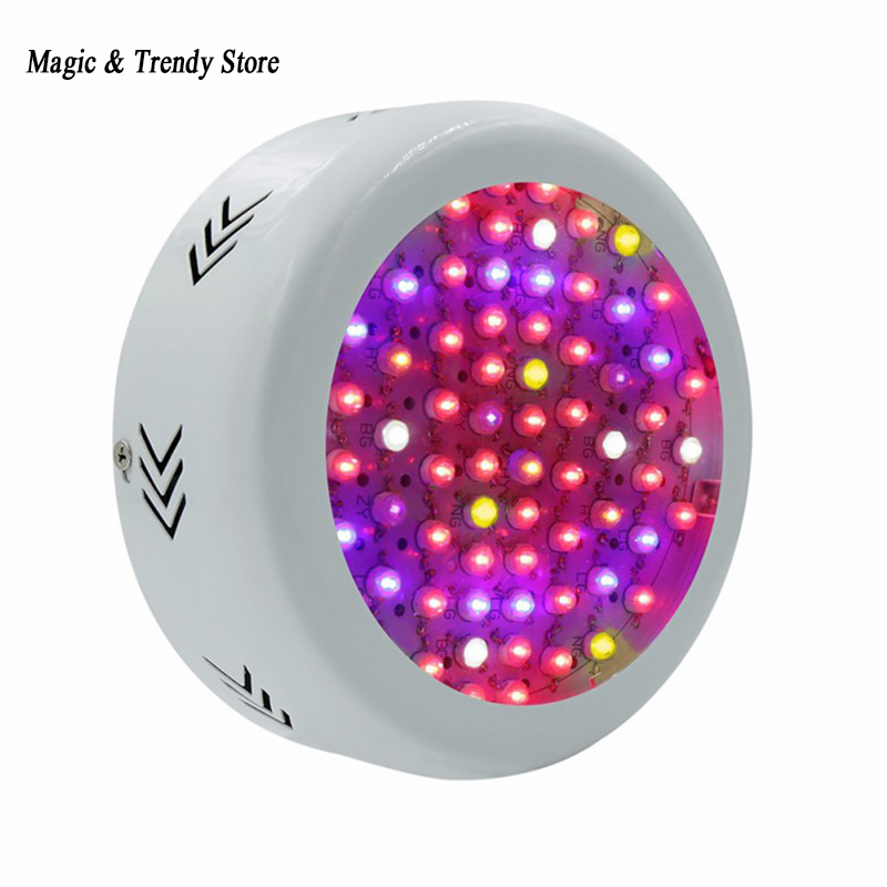 ФОТО Full Spectrum MINI UFO High Power AC85~265V 216W 12Blue+6warm white+6white+3IR+3UV LED Grow Lights for Hydroponics Flowers