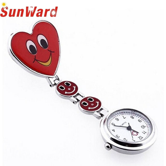 Attractive New Arrival! 1PC Fashion Red Heart Nurse Pocket Watches Pendant for D
