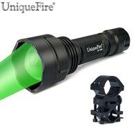 Uniquefire lanterna militar uf-1505 cree xpe led (g/r/w de luz) da liga de alumínio 38mm ajustável lente de foco lâmpada + escopo montar