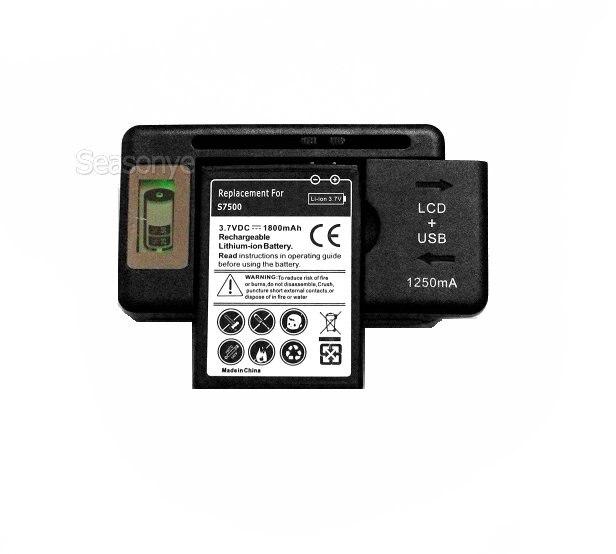 Seasonye 1800 mAh EB464358VU Batterie De Remplacement + LCD Chargeur Pour Samsung Galaxy Y Galaxy Mini 2 S6500 Ace Plus S7500 S7508