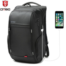 DTBG Men's Laptop Backpack Anti theft Backpacks 15.6 17.3 Inch USB Charge Port Bag for Notebook Waterproof Travel School Bags