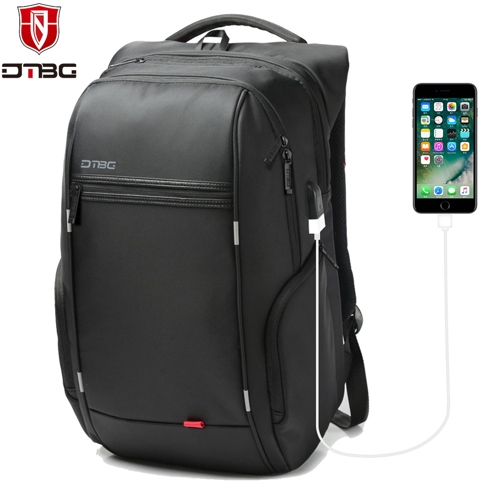DTBG Men's Laptop Backpack Anti theft Backpacks 15.6 17.3 Inch USB Charge Port Bag for Notebook Waterproof Travel School Bags dtbg backpack for men women 15 6 inch notebook laptop bags anti theft men s backpacks travel school back pack bag for teenagers