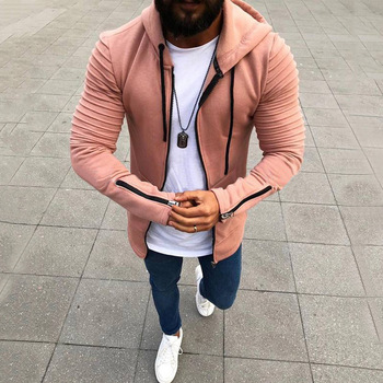 New Long sleeve hoodies men Zipper Sweatshirt
