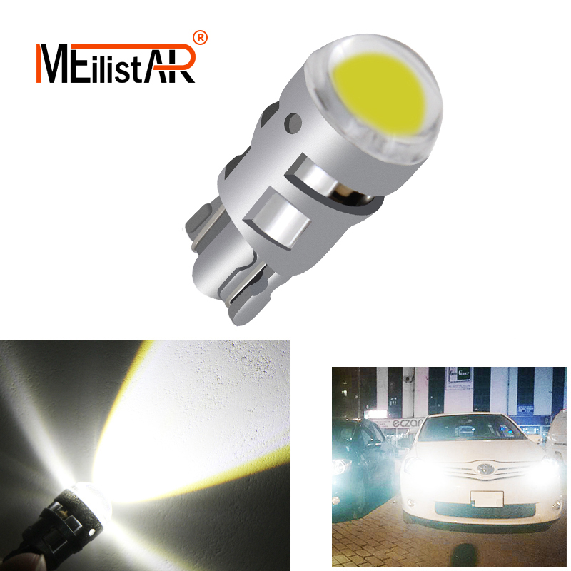 1pcs T10 168 194 2825 W5W LED For Chip Led Replacement Bulbs Car License Plate Parking Lights Car Styling Car Light Source 10x white 360 degree 5050 smd 168 194 2825 w5w t10 led car led light bulbs for parking led license plate lights