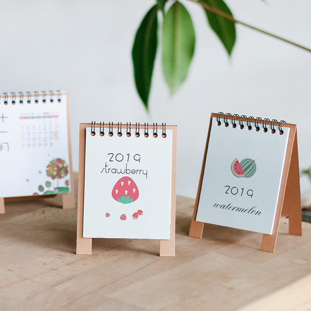 Cartoon 2019 Notepad Desktop Calendar Lunar Cute Diy Calendar