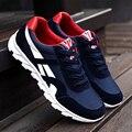 Nuevos Hombres de Colchón de Aire de Moda Casual Zapatos de Los Hombres Con Cordones de Color Rojo Azul de Primavera Otoño Caminar Trotar Zapatos Para Hombre Entrenadores