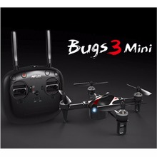 Bugs 3 mini drone brushless MJX, auto-estabilização, manual de modo dual, two-way 2.4 GHz zangão remoto