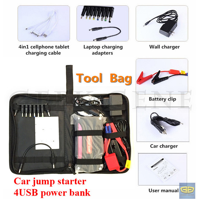 Original New Portable Gasoline Engine Power Bank Mobile Emergency Car Jump Starter SOS Light  Harden Shell Free Ship