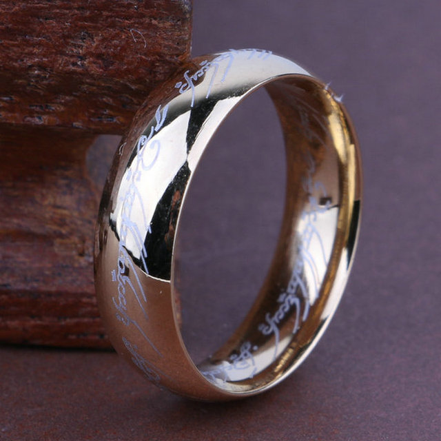 (1 pieces/lot) 100% Titanium Ring Men Wedding band rings woman Classic Engagement Ring Gold Silver Black