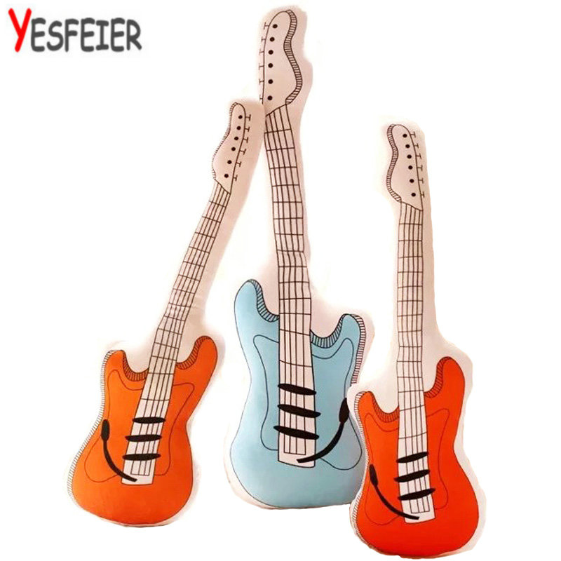 60/70/90cm wholesale Creative Guitar Plush Toys at home decorate baby Doll Soft pillow cushion birthday Gift for Children 45cm creative mushroom pillow soft cushion vegetable plush toys at home decorate doll stuffed plush birthday gift