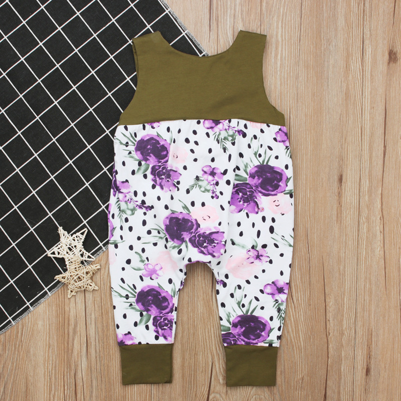 On Sale 2018 Infant Floral Girls Romper Baby Jumpsuit Baby Girl Clothes Baby Onesie First Birthday Girl Party Toddler Outfits