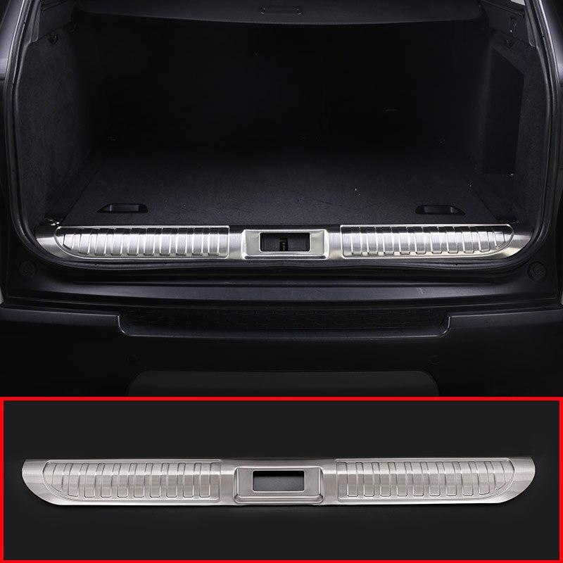 Автомобиль, внутренний задний бампер защитник пластина Накладка хвост Магистральные гвардии Обложка для Land Rover Range Rover Sport 2014 2018